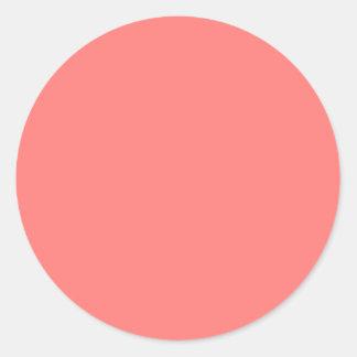 Coral coral round sticker