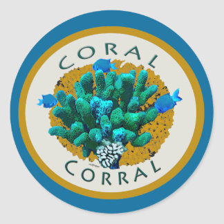 Coral Corral Sticker for ocean-lover gifts