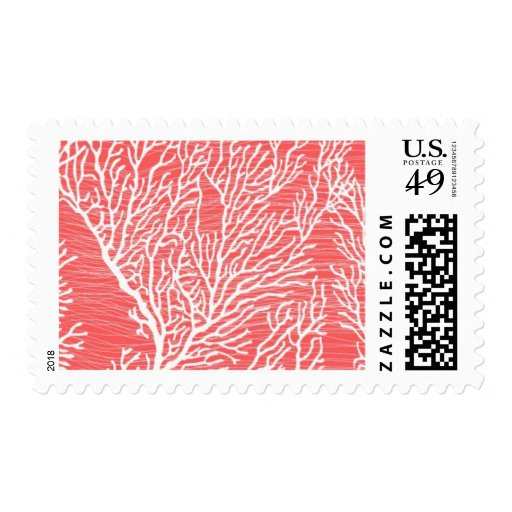 Coral Cove B by Ceci New York Postage Stamps