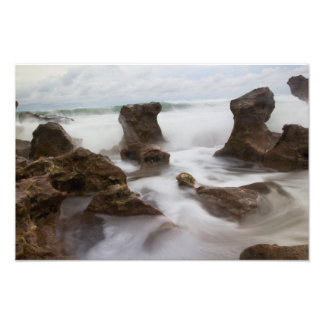 Coral Cove Park beach and waves Photo Print