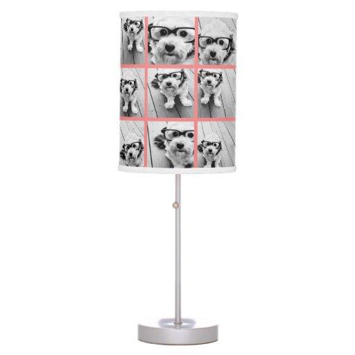 coral create your own photo collage desk lamp zazzle. Black Bedroom Furniture Sets. Home Design Ideas