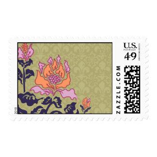 Coral cultivado sello postal