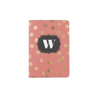 Coral Custom Monogram Passport Cover