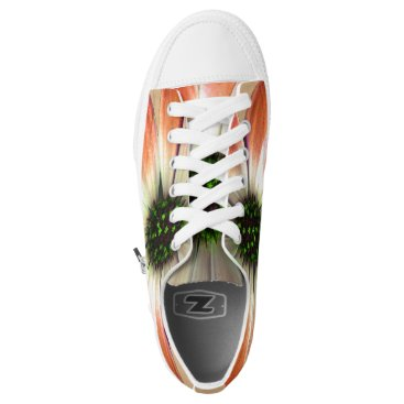 Coral Daisy on Shell background Low-Top Sneakers