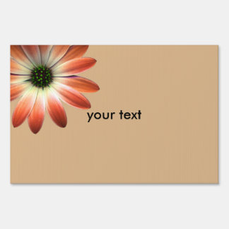 Coral Daisy on Shell background Sign