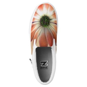 Coral Daisy on Shell background Slip-On Sneakers