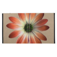 Coral Daisy on Shell Leather Print iPad Folio Covers (<em>$62.95</em>)