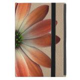 Coral Daisy on Shell Leather Print iPad Mini Covers (<em>$54.95</em>)
