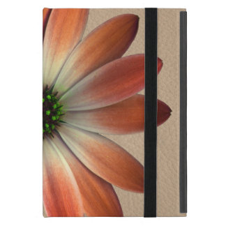 Coral Daisy on Shell Leather Print iPad Mini Covers