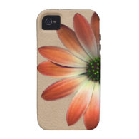 Coral Daisy on Shell Leather Texture iPhone 4 Cover (<em>$61.95</em>)