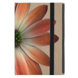 Coral Daisy on Shell Leather Texture iPad Mini Covers (<em>$54.95</em>)