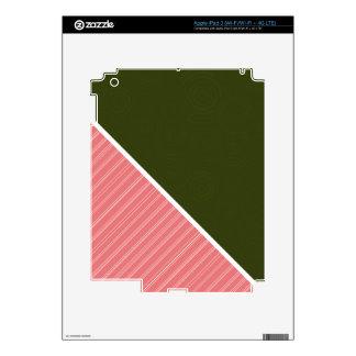 Coral & Dark Olive Green iPad 3 Decals