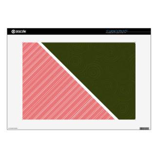 Coral & Dark Olive Green Laptop Decals