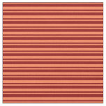 [ Thumbnail: Coral & Dark Red Colored Striped Pattern Fabric ]