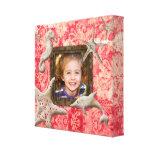 Coral de la plantilla de la foto de la impresión d lienzo envuelto para galerías