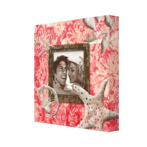 Coral de la plantilla de la foto de la impresión d lona estirada galerias