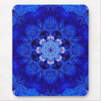Coral del azul real mouse pads