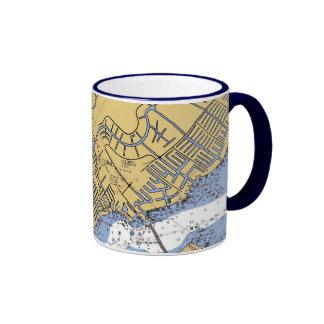 Coral del cabo, taza náutica de la carta del
