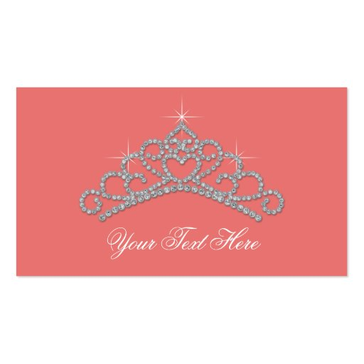 Coral Diamond Party Favor Labels Product Tags Business Cards