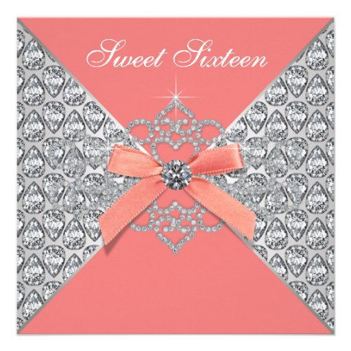 Coral Quinceanera Invitations for your inspiration to make invitation template look beautiful
