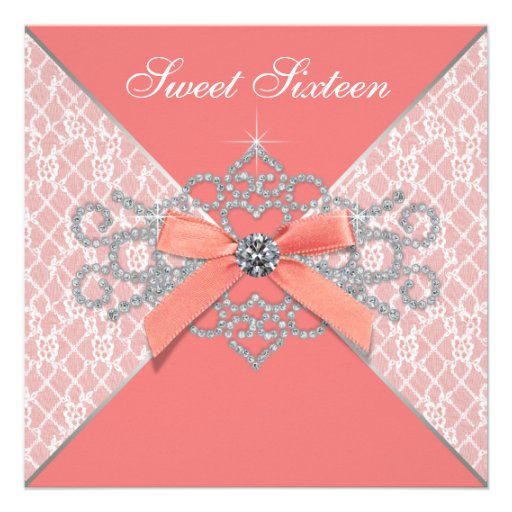 Coral Quinceanera Invitations is an amazing ideas you had to choose for invitation design
