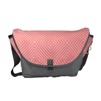 Coral Diamonds Courier Bag