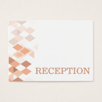 coral diamonds Geometricalwedding reception invite