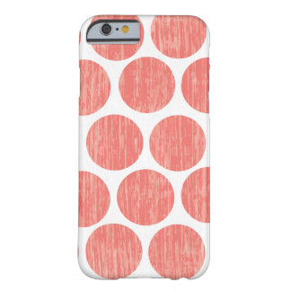 Coral Distressed Polka Dot iPhone 6 Barely There iPhone 6 Case