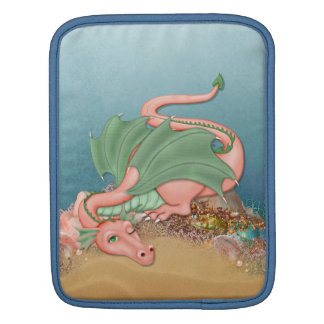 Coral Dragon Beach Fantasy iPad Sleeve