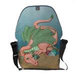 Coral Dragon Ocean Fantasy Courier Bag at Zazzle