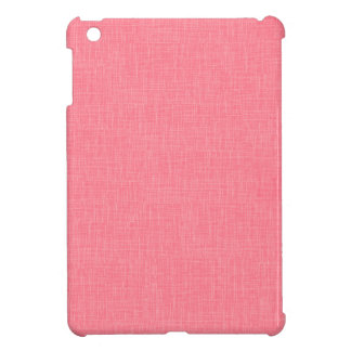 Coral Faux Linen Fabric Textured Background iPad Mini Cover