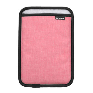 Coral Faux Linen Fabric Textured Background iPad Mini Sleeve