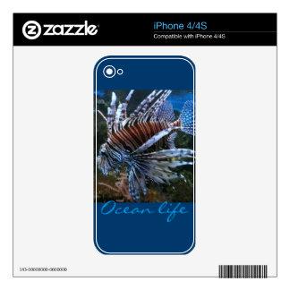 Coral fish ocean life skin for iPhone 4