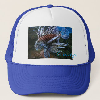 Coral fish ocean life trucker hat