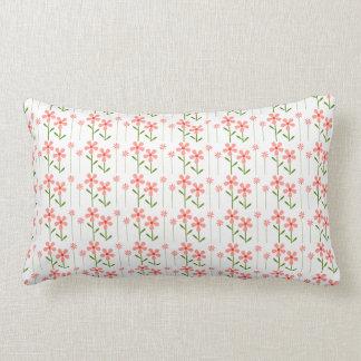 Coral Floral American MoJo Lumbar Pillow