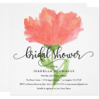Coral Floral Watercolor | Bridal Shower Invite