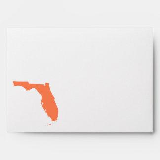 Coral Florida Envelopes