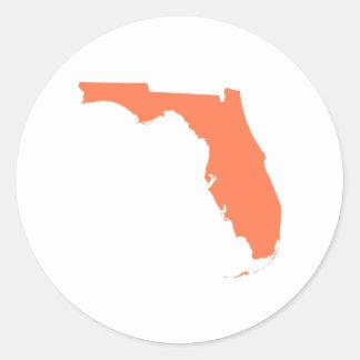 Coral Florida Round Sticker