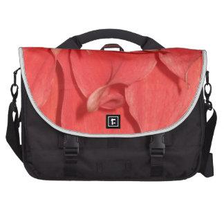 Coral Flower Petals Computer Bag