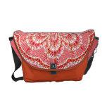 Coral Flower Rickshaw Messenger Bag