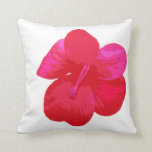 Coral flower throw pillow