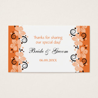 Coral Flowers Wedding Favor Gift Tags Thank You