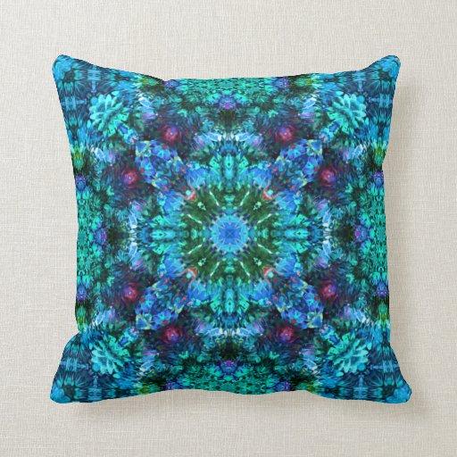 coral fluff mandala pillow zazzle. Black Bedroom Furniture Sets. Home Design Ideas