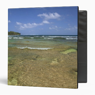 Coral formations on Tunnels Beach 3 Ring Binder