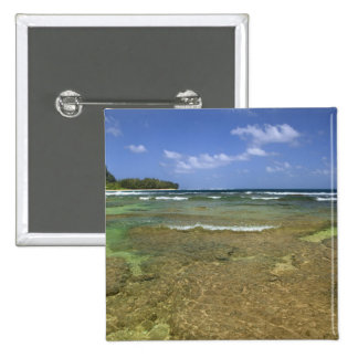 Coral formations on Tunnels Beach 2 Inch Square Button