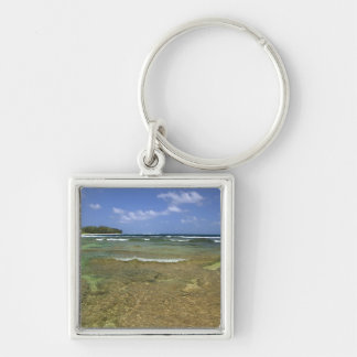 Coral formations on Tunnels Beach Keychain