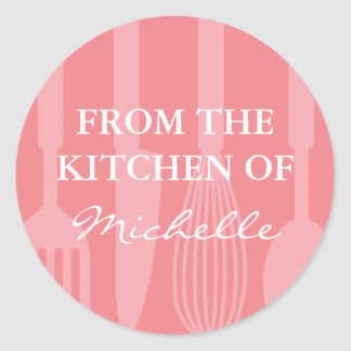 Coral From the kitchen of cooking utensils sticker