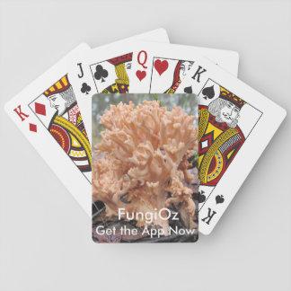 Coral fungi playing carols playing cards