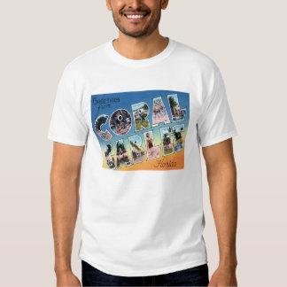 Coral Gables, camiseta escénica de las letras del Poleras