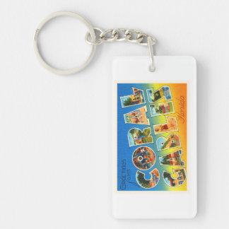 Coral Gables Florida FL Vintage Travel Souvenir Keychain